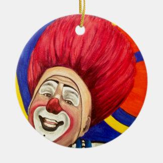 Clown Mark Carfora Round Ceramic Decoration