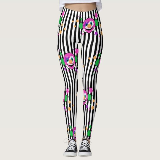 Clown Monkey Stripes Leggings