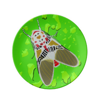 Clown Moth Porcelain Plates