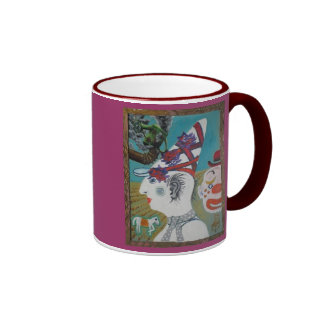 , clown coffee mug