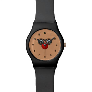 Clown Nose and Glasses Wristwatch