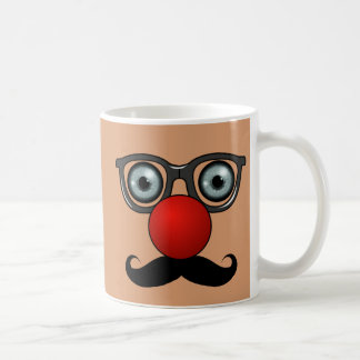 Clown Nose, Glasses, and Mustache Coffee Mugs