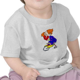Clown on tricycle t shirt