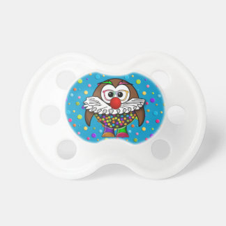 clown owl baby pacifier