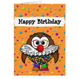 clown owl card