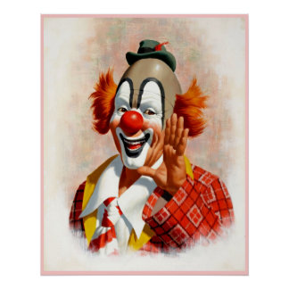 Clown painting  2 poster
