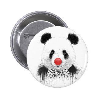 Clown panda 6 cm round badge