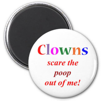 Clown Phobia 6 Cm Round Magnet