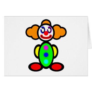 Clown (plain) card