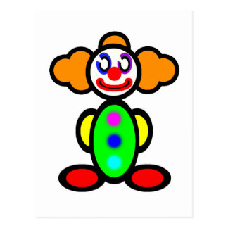 Clown (plain) postcard