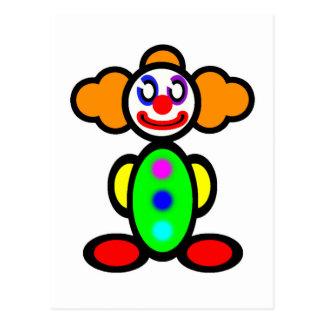 Clown (plain) postcard