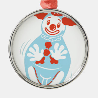 Clown Punching Bag Silver-Colored Round Decoration
