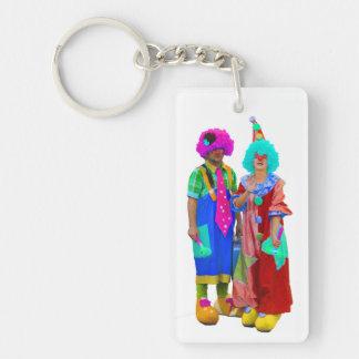 Clown Rectangle Acrylic Key Chain