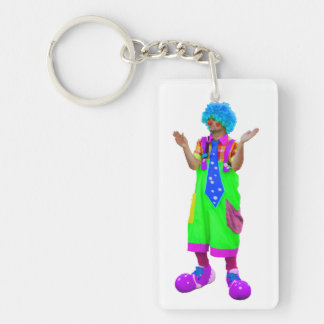 Clown Rectangular Acrylic Keychain