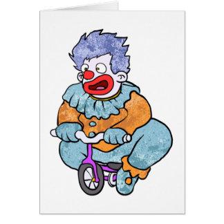 Clown riding note card
