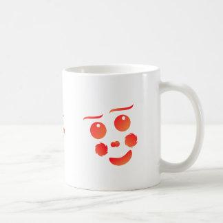 Clown shape face fun design mug