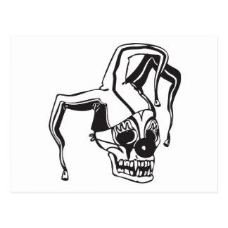 Clown Skull Postcard