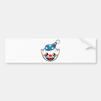 clown smiley face bumper sticker
