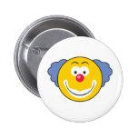 Clown Smiley Face Pinback Buttons