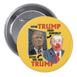 Clown Trump 7.5 Cm Round Badge