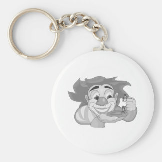 Clown with ants basic round button key ring