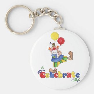 Clown with Balloons Key Ring