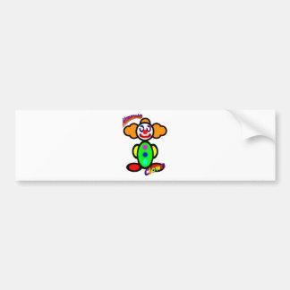 Clown (with logos) bumper sticker
