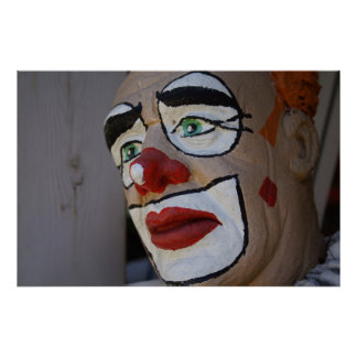 Clown With Sad Look Poster