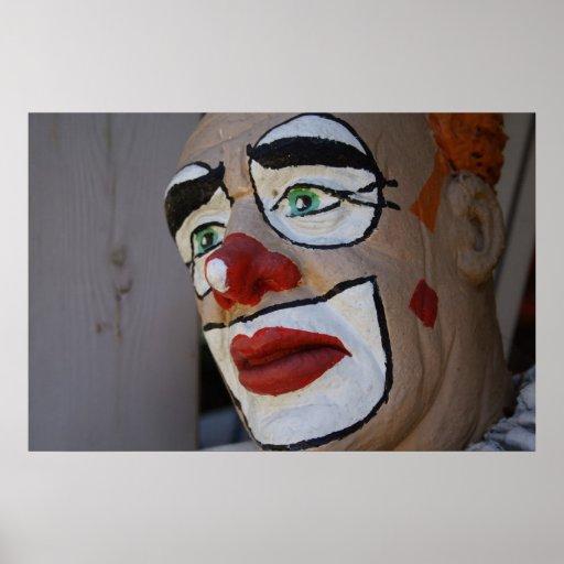 Clown With Sad Look Print