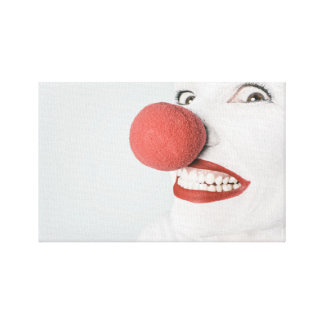 Clown Wrapped Canvas Canvas Print