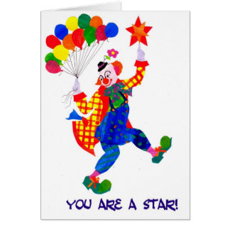 Clown 'You are a star' card