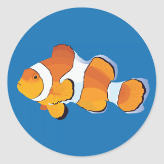 Clownfish Classic Round Sticker