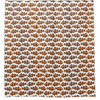 Clownfish Frenzy Shower Curtain (Choose colour)