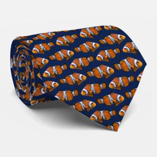 Clownfish Frenzy Tie (Navy)