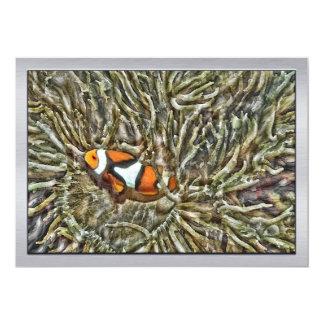 Clownfish in Sea Anemone 13 Cm X 18 Cm Invitation Card