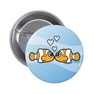 Clownfish Love 6 Cm Round Badge