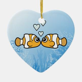 Clownfish Love Ceramic Heart Decoration