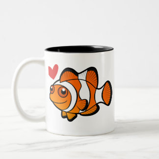 Clownfish Love Two-Tone Coffee Mug