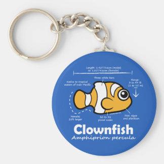 Clownfish Statistics Key Ring