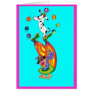 Clowning around (blank inside) card
