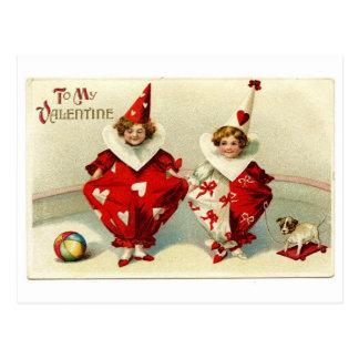 Clowning around in Love Postcard