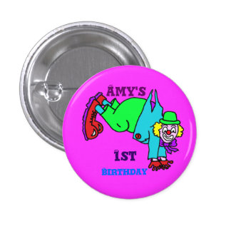 Clowning Capers Button Badge