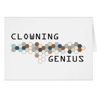 Clowning Genius Cards