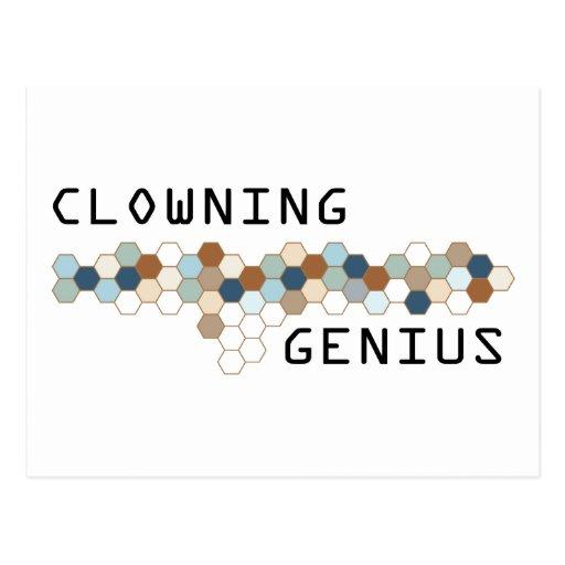 Clowning Genius Postcards