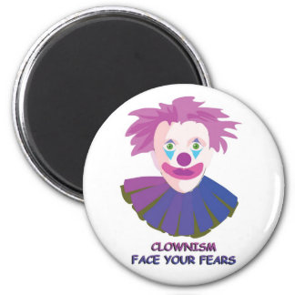 Clownism Face Your Fears Magnets
