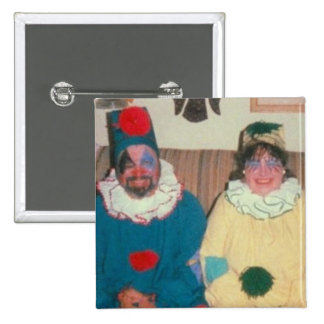 clowns 15 cm square badge