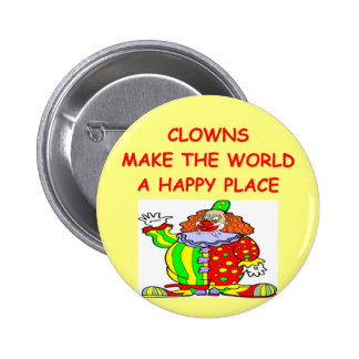 clowns 6 cm round badge