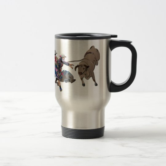 Clowns and Bull-2 without Text Travel Mug