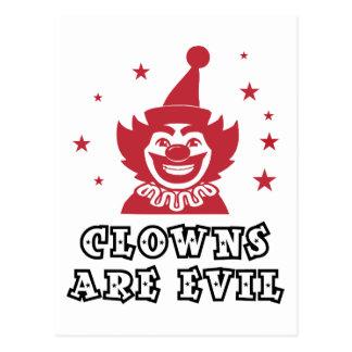 Clowns Are Evil Postcard