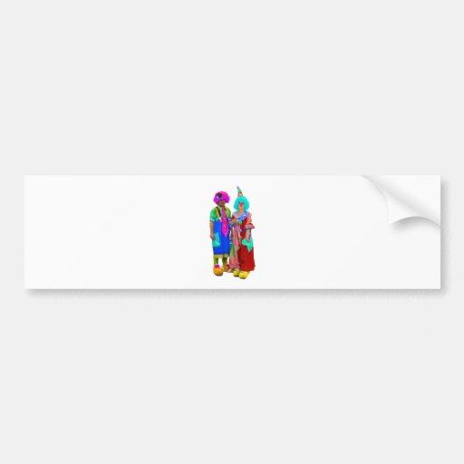 clowns bumper sticker